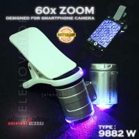 Mini Mikroskop untuk Batu Akik 9882W dilengkapi Klip Kamera Ponsel