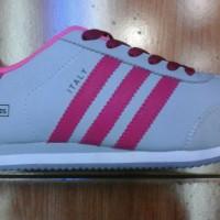 sepatu adidas italy abu lis pink + box