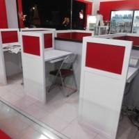 Jual Meja Sekat Kantor Cubicle table workstation Semarang