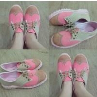Sepatu Docmart Wanita comby Pink