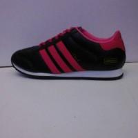sepatu adidas italy hitam list pink + box ( murah )