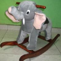 Kuda Kudaan Rocking Gajah Abu abu
