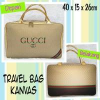 Tas Travel Bag Kanvas GUCCI
