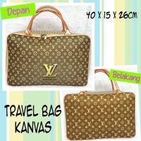 Tas Travel Bag Kanvas LV
