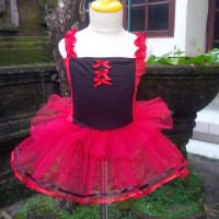 Baju Ballet Anak Princess Merah