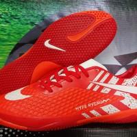 Sepatu futsal,bola,Nike Hypervenom Skin Merah Grade Ori