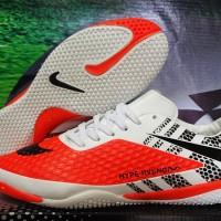 Sepatu futsal,bola,Nike Hypervenom Skin Putih Orange Grade Ori