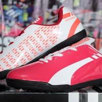 Sepatu futsal,bola,Puma EvoSpeed Putih Pink Sol Hitam