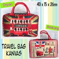 Tas Travel Bag Kanvas London Royal