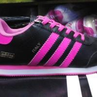 sepatu adidas italy hitam lis pink murah +Box