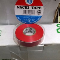 Isolasi Listrik Merek Nachi Electrical Insulating Tape Red (Merah)