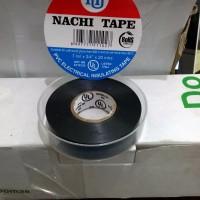 Isolasi Listrik Merek Nachi Electrical Insulating Tape Black (Hitam)