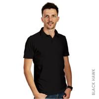 Kaos Polo Pria Men Polo Shirt (Black Hawk)