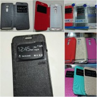 Leather case flip case Wallet Asus Zenfone 2 ze500cl ukuran 5 inch ume