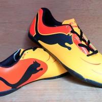 jual sepatu futsal,bola,Puma Powercat Orange Kuning