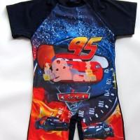 Baju renang swimsuit anak cars 789