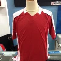 Baju jersey kaos katun voli futsal sepakbola katun allsize merah sale