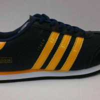 sepatu adidas italy hitam - kuning + box #sepatumurah