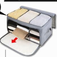 2 Way Openable Storage Box Cloth organizer Pakaian / Baju