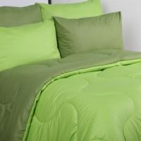 sprei dan bedcover polos hijau/lime-olive/uk/bisa mix 2 warna pilihan