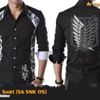 SNK Batik Shirt (Kemeja Anime Batik Attack on Titan)