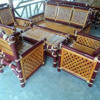 1 Set Kursi DORA Maron (Bambu Hijau)