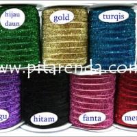 PEGL-10 : Pita Beludru Glitter 1 cm untuk bahan jepit
