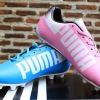 jual sepatu bola,futsal,Puma EvoSpeed Putih Pink Birumuda