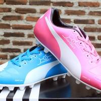 jual sepatu bola,futsal,Puma Evopower Biru Muda Pink