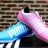 Sepatu Futsal Puma Evopseed Blue/Pink