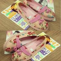 Sepatu Docmart FLORAL PINK