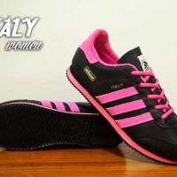 Sepatu Adidas Italy Women Hitam Pink