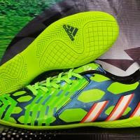 jual sepatu futsal Adidas Predator Instinct Biru Hijau Grade Ori