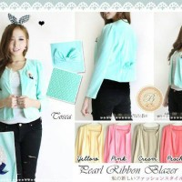Pearl Ribbon Blazer