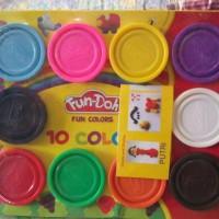 isi Lilin Playdough Fun Doh set 10 Warna Warni