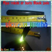 Pipa rokok dari bahan batu Black Jade (Aceh) fersi panjang