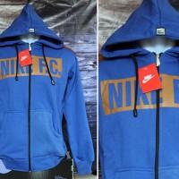 Jaket Nike FC Biru(jaket sport,sweater,blazer,jaket parasut)