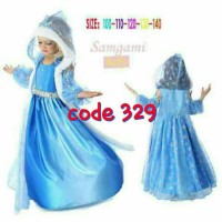 Baju Dress Gaun Kostum Princess Elsa Frozen Jubah / Baju elsa 329
