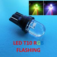 LED T10 RGB Flashing Lampu Senja Jagung Sen Merah Hijau Biru Pelangi