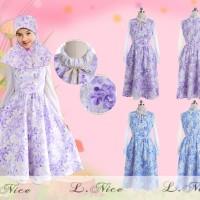 fashion muslim gamis anak kerudung bahan katun Lnice 39-11 A