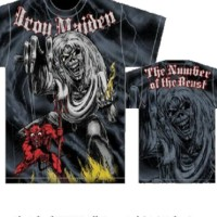 iron maiden Sketched NOTB All Over import shirt