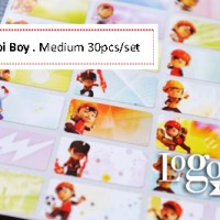 Boboiboy Stiker Label Nama Medium (isi 30 pcs) Waterproof. Boboi Boy