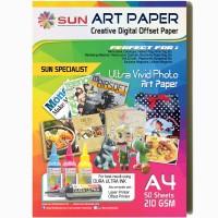 SUN ART PAPER 210 GSM A4 (50 Lembar)