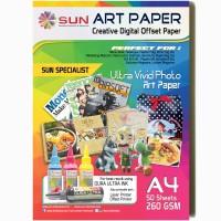 SUN ART PAPER 260 GSM A4 (50 Lembar)