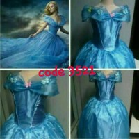 gaun cinderella biru bagus / wellcome resellers jual lagi 352 - Size 120