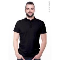 Kaos Berkerah Collar T-Shirt Morning Whistle (Black Hawk)