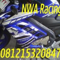 Half Fairing New Vixion Gp Lightning Biru Model Ninja Fi Seri Movistar