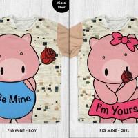 Baju Valentine Couple - Kaos Pasangan -  FP Pig Mine