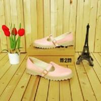 sandal sepatu docmart wanita pink baby jenzcollection