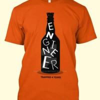 tshirt/t shirt/kaos engineer (orange)